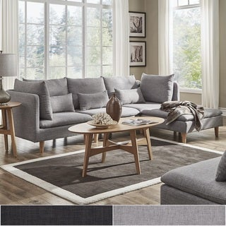 Malina Modular Fabric L-Shaped Chaise Sectional Sofa by iNSPIRE Q Modern