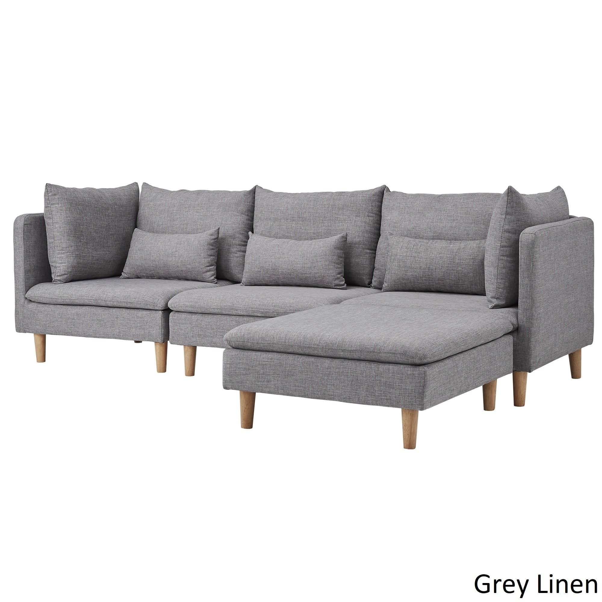 Hervorragend Fabulous Affordable Malina Modular Fabric Lshaped Chaise Sectional Sofa By  Inspire Q Modern Options With Couch U Form Modern With Sofas U Form