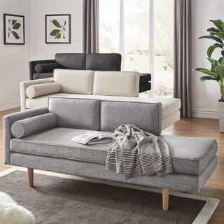 Caela Mid-Century Chaise Lounge with Pillow by iNSPIRE Q Modern