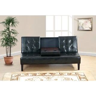 Maplegrove Faux Leather Adjustable Sleeper Sofa