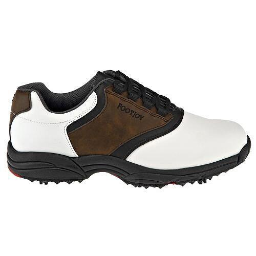 FootJoy GreenJoys Series Golf Shoes White/Brown/Black