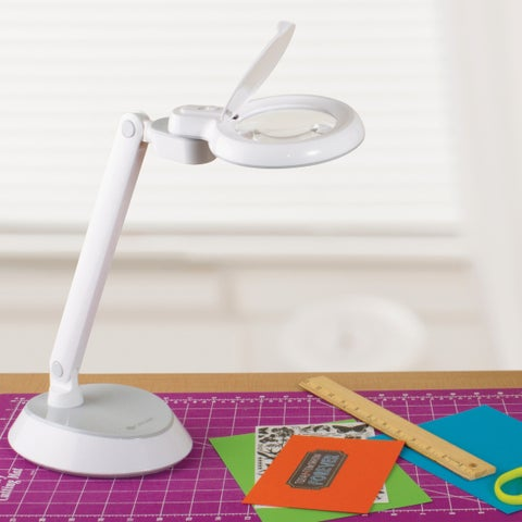 OttLite LED Magnifier Desk Lamp