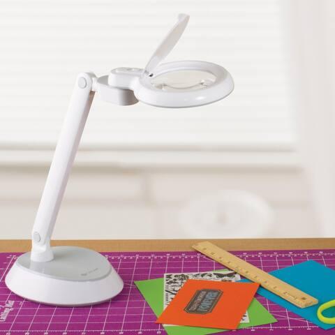 OttLite LED Magnifier Desk Lamp, White