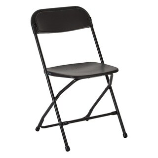 Plastic Folding Chair with Black Powder Coated Frame, 4-pack
