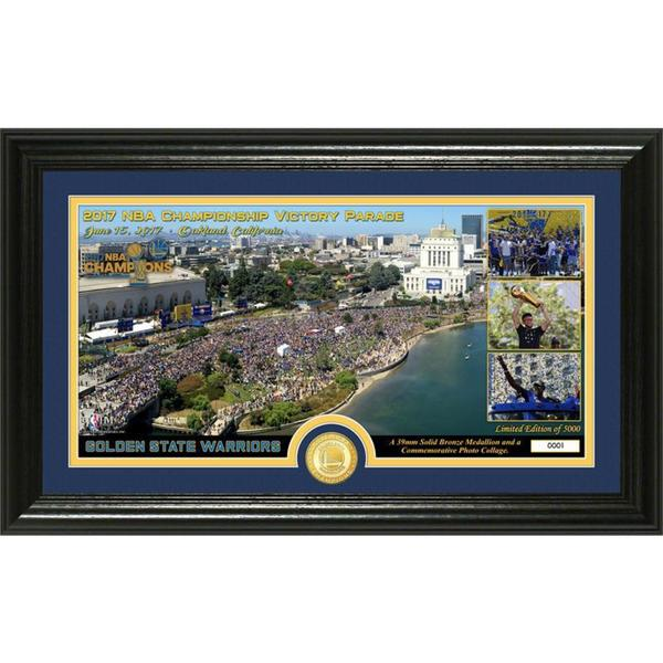 "Golden State Warriors 2017 NBA Champions ""Parade"" Bronze Coin Pano Photo Mint"