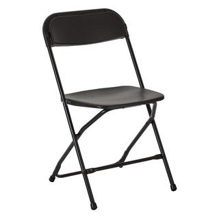 Plastic Folding Chair with Black Powder Coated Frame, 10-pack