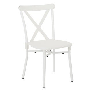 X-Back Guest Stacking Chair with Plastic Seat, 4-pack (Option: Brown)