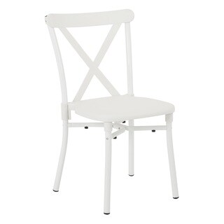 X-Back Guest Stacking Chair with Plastic Seat, 4-pack