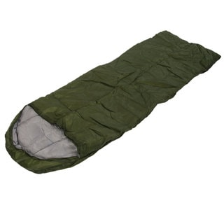 Auto AT6118 Outdoor Envelope Style Sleeping Bag with Hood Army Green