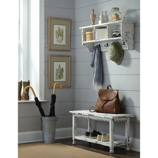 Country Cottage Coat Hooks and Bench Set