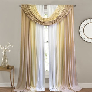 Gold/Beige Window-In-A-Bag Curtain Panel 4-piece Set