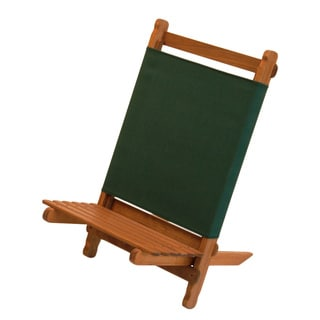 Byer Pangean Green/Brown Wood/Canvas Lounger