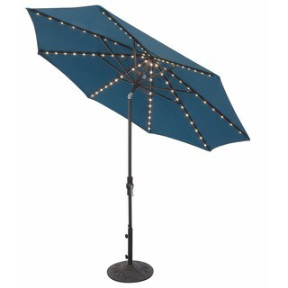 9 Foot Tilt and Crank LIGHT UP Octagon OBravia Umbrella - Bar Height