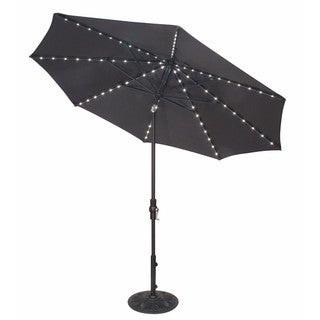 9 Foot Tilt and Crank LIGHT UP Octagon O'Bravia Umbrella - Dining Height