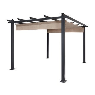 Aleko Aluminum 9' x 9' Outdoor Canopy Trellis Pergola (3 options available)