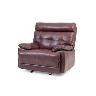 Lyke Home Corey Burgundy Faux-leather Recliner