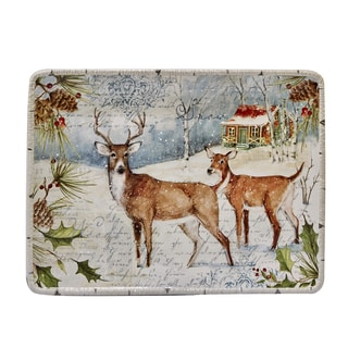 Certified International Winter's Lodge Rectangular Platter