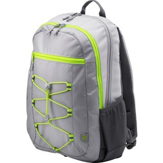 "HP Active Carrying Case (Backpack) for 15.6"" Notebook - Gray, Neon Gr"
