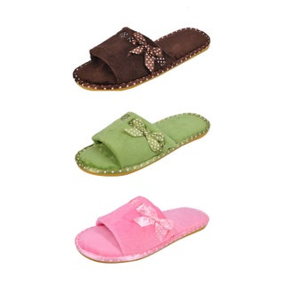 Spring River Colorful Women's 3-Pack fluffy Side Ribbon flip flop (2 options available)