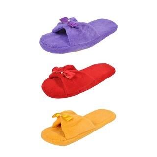 Spring River Colorful Women's 3-Pack fluffy Center Ribbon flip flop (Option: Purple)