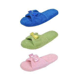 Spring River Colorful Women's 3-Pack fluffy Center Ribbon flip flop (4 options available)