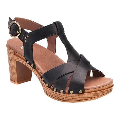 aa712c6ff0d3 Shop Women s Dansko Daniela T Strap Sandal Black Full Grain Leather - Free  Shipping Today - Overstock - 14034682