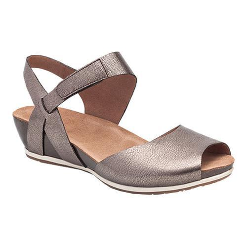 Cheap New Arrivals Womens Dansko Vera Peep Toe Sandal Pewter Nappa Leather Womens Pewter Nappa Leather Dansko Womens Dansko