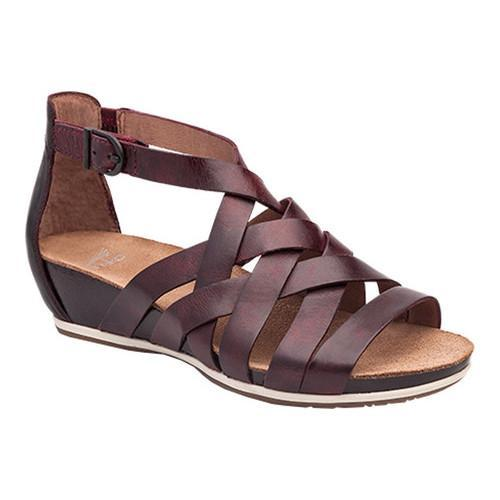 5c058f8ae197 Women  x27 s Dansko Vivian Strappy Sandal Ruby Vintage Pull Up Leather