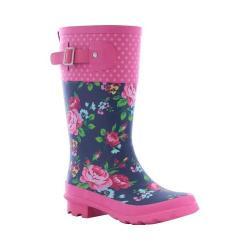 Girls' Western Chief Classic Tall Rain Boot Navy Rosie