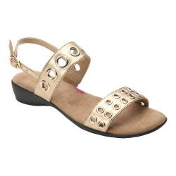 Women's Ros Hommerson Meredith Strappy Sandal Gold Leather