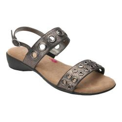 Women's Ros Hommerson Meredith Strappy Sandal Pewter Leather