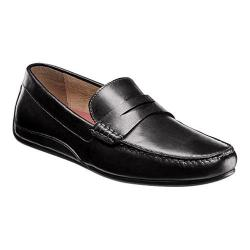 Men's Florsheim Oval Penny Driving Moc Black Full Grain Leather/Suede