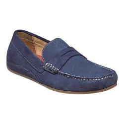 Men's Florsheim Oval Penny Driving Moc Blue Full Grain Leather/Suede