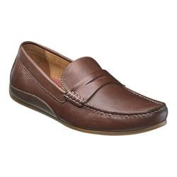 Men's Florsheim Oval Penny Driving Moc Cognac Full Grain Leather/Suede