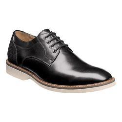 Men's Florsheim Union Plain Toe Oxford Black Full Grain Leather/Suede