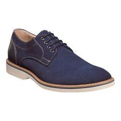 Men's Florsheim Union Plain Toe Oxford Blue Full Grain Leather/Suede