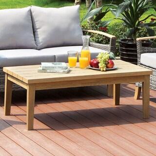 Furniture of America Malone Oak Outdoor Table