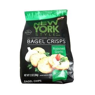 New York Style Garlic Bagel Chips