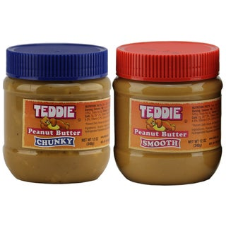 Teddie Peanut Butter Chunky & creamy 2 packs