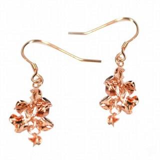 De Buman Rose Gold Plated Silver Dangle Earrings