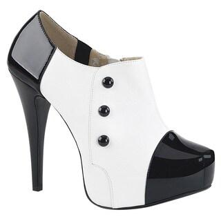 Pleaser Pink Label CHLOE-11 Women's Platform Zip Button High Stiletto Heel Pumps