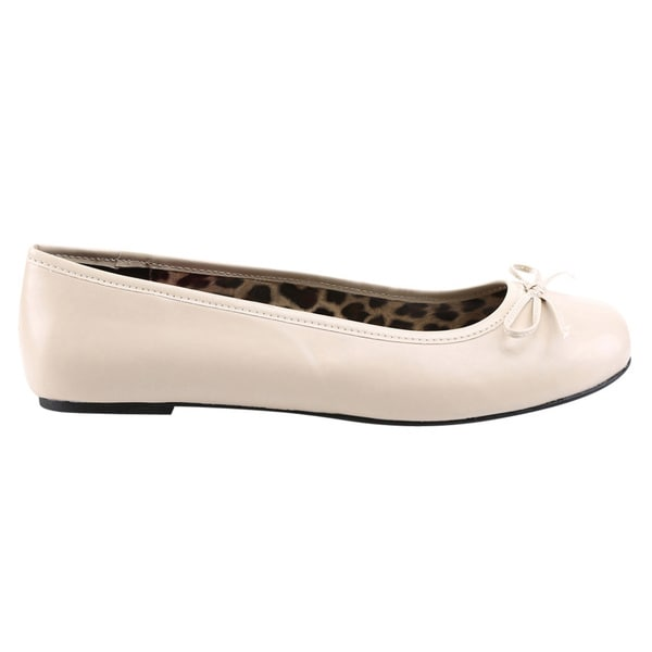 Pleaser ANNA-01 Ballet Flat With Bow Accent