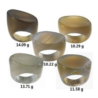 De Buman Natural Agate Ring