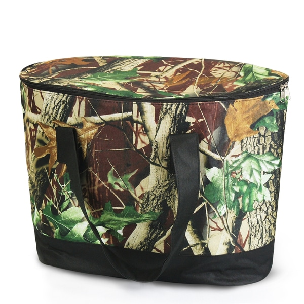 Zodaca Natural Camouflage Large Pinic Travel Outdoor Camping Party Food Drink Water Storage Zip Cooler Bag
