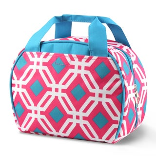 Zodaca Round Graphic Stylish Small Reusable Insulated Work School Lunch Tote Carry Storage Zipper Cooler Bag