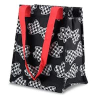 Zodaca Hounds Tooth Bows Leak Resistant Reusable Insulated Lunch Tote Carry Storage Organizer Zip Cooler Bag