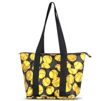 Zodaca Yellow Softball Large Reusable Insulated Leak Resistant Lunch Tote Carry Organizer Zip Cooler Storage Bag