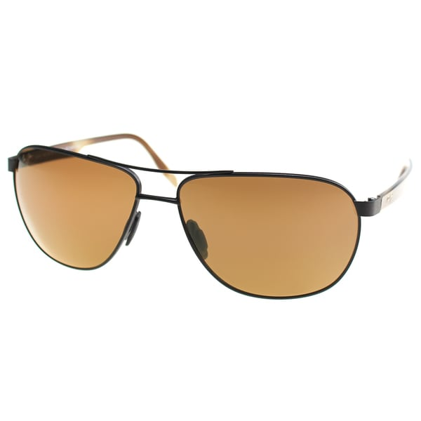 ebe69f84584f Maui Jim Maui 728 01M Castles Matte Chocolate Metal Aviator Sunglasses HCL  Bronze Polarized Lens
