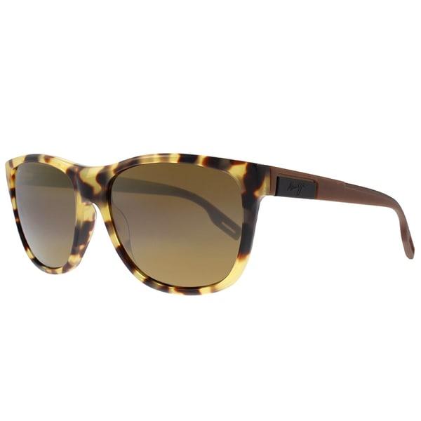 871f5fd04598 Maui Jim Maui 734 10L Howzit Tokyo Tortoise Plastic Square Sunglasses HCL  Bronze Polarized Lens