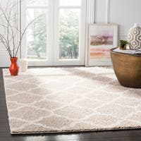 Safavieh New York Shag Contemporary Geometric Light Grey/ Ivory Area Rug - 9' x 12'